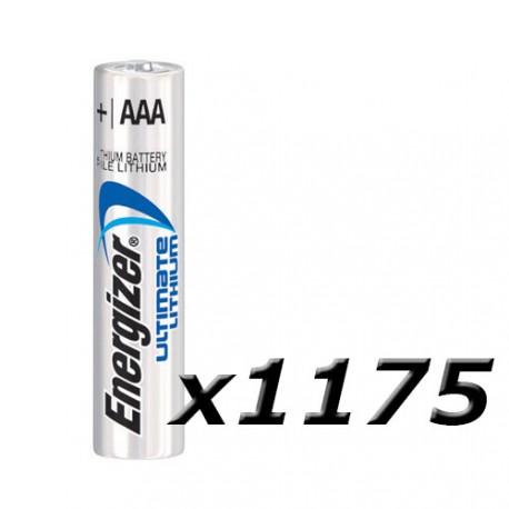 Boite de 1175 piles AAA L92 Lithium plateau ENERGIZER