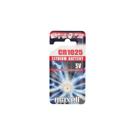 Pile bouton CR1025 Lithium 3V MAXELL