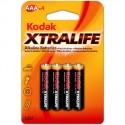 4 piles AAA LR03 Alcaline 1,5V KODAK