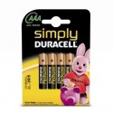 4 Piles AAA LR03 Alcaline 1.5V DURACELL SIMPLY