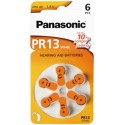 6 piles auditives PR48 Panasonic PR-13 ACOUSTIC 1,4V Zinc-air
