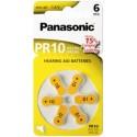 6 piles auditives PR70 Panasonic PR-10 ACOUSTICAL 1,4V Zinc-air