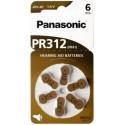 6 piles auditives PR41 Panasonic PR-312 ACOUSTICAL 1,4V Zinc-air