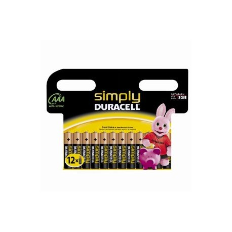 12 Piles AAA LR03 Alcaline 1.5V DURACELL SIMPLY