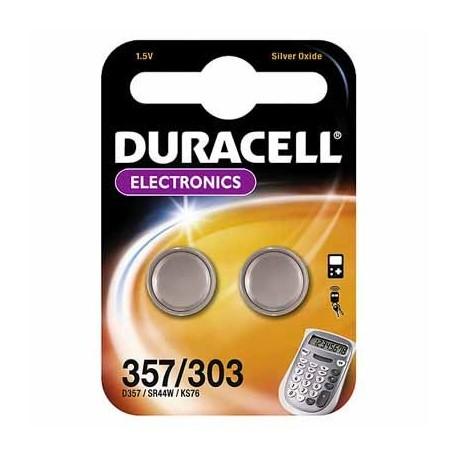 2 Piles SR44 AG13 Oxyde d'argent DURACELL