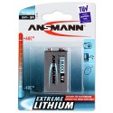 Pile 9V 6LR61 6LF22 Lithium ANSMANN