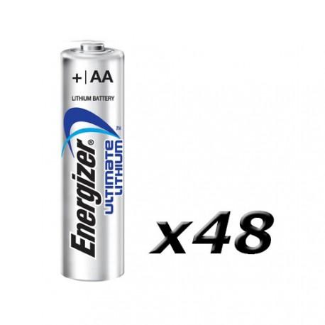 Boite de 48 piles AA L91 Lithium ENERGIZER
