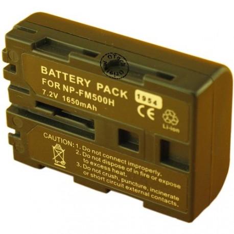 Batterie pour SONY NP-FM500H 7.4V Li-Ion 1600mAh