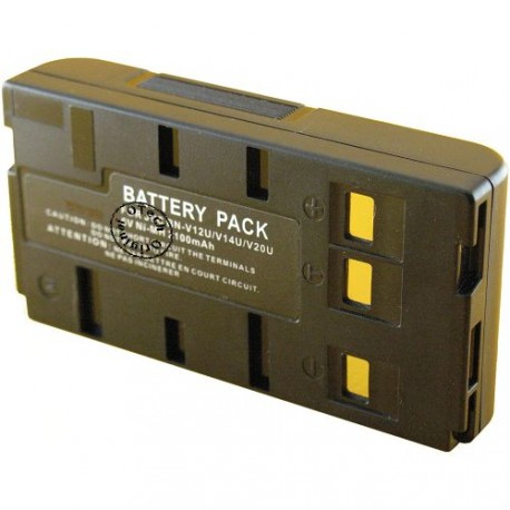 Batterie pour JVC BN-V12U / V14U Black 6V Ni-MH 2100mAh