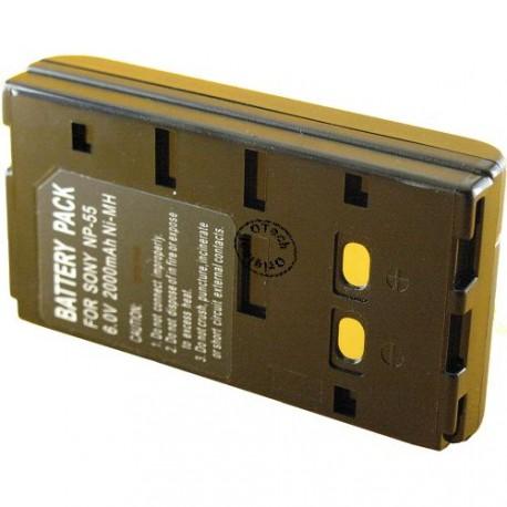 Batterie pour NP-55 Black 6V Ni-Mh 2100mAh
