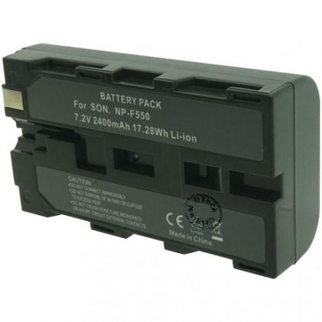 Batterie pour NP-F550 7.2V Li-Ion 2400mAh