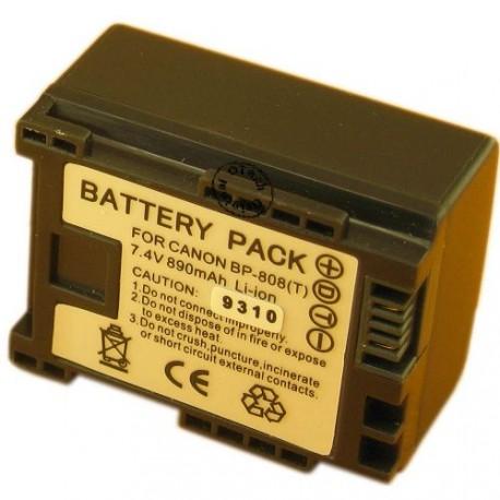 Batterie pour CANON BP-808 7.2V Li-Ion 890mAh