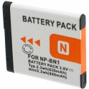 Batterie pour SONY NP-BN1 3.7V Li-Ion 630mAh