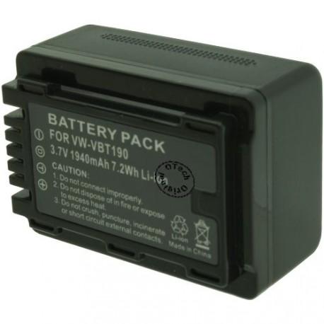 Batterie pour PANASONIC VW-VBT190 3.7V Li-Ion 1500mAh