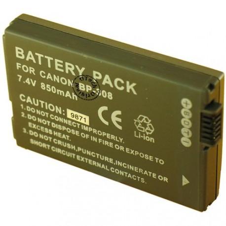 Batterie pour CANON BP-308 / 310 7.2V Li-Ion 850mAh