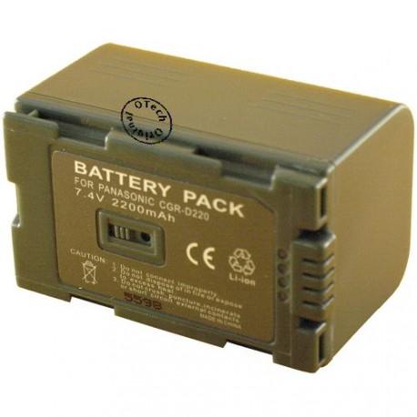Batterie pour PANASONIC CGR-D220 / D16S 7.4V Lithium-Ion 2200mAh