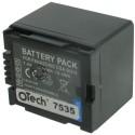 Batterie pour PANASONIC CGA-DU21 7.4V Li-Ion 2500mAh