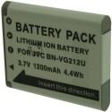 Batterie pour JVC BN-V212U 3.7V Li-Ion 1200mAh