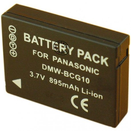 Batterie pour PANASONIC DMW-BCG10E 3.6V Li-Ion 900mAh