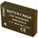 Batterie pour PANASONIC DMW-BCG10E 3.6V Li-Ion 895mAh