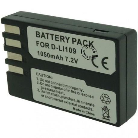 Batterie pour PENTAX D-LI109 7.4V Li-Ion 1100mAh