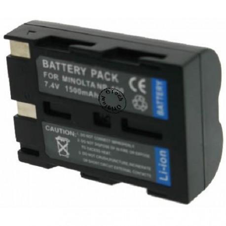Batterie pour MINOLTA NP-400 / D-LI50 Black 7.4V Li-Ion 1500mAh