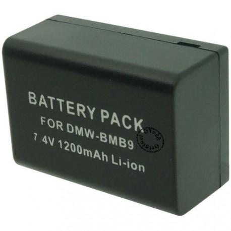Batterie pour PANASONIC DMW-BMB9E decode 7.4V Li-Ion 1100mAh