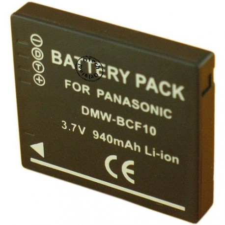 Batterie pour PANASONIC DMW-BCF10 3.7V Li-Ion 1200mAh
