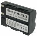 Batterie pour EN-EL3 Black 7.4V Li-Ion 1800mAh