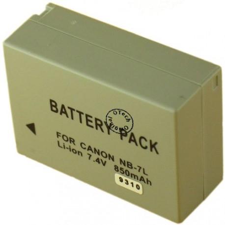 Batterie pour CANON NB-7L 7.4V Li-Ion 850mAh