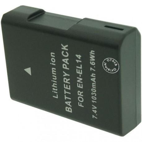 Batterie pour NIKON EN-EL14 7.4V 1030mAh