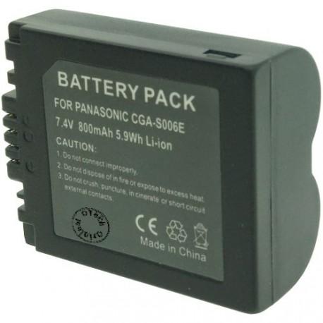 Batterie pour PANASONIC CGA-S006E Black 7.4V Li-Ion 800mAh