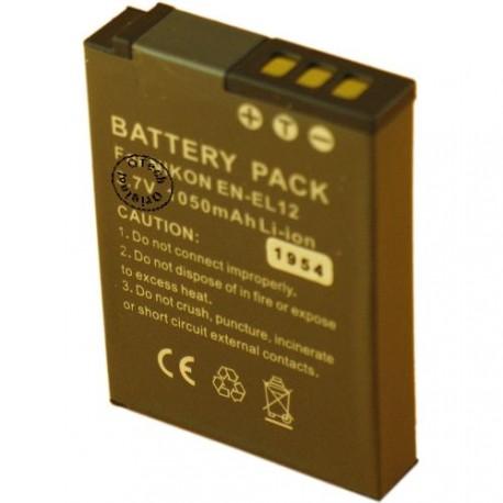Batterie pour NIKON EN-EL12 3.7V Li-Ion 1050mAh