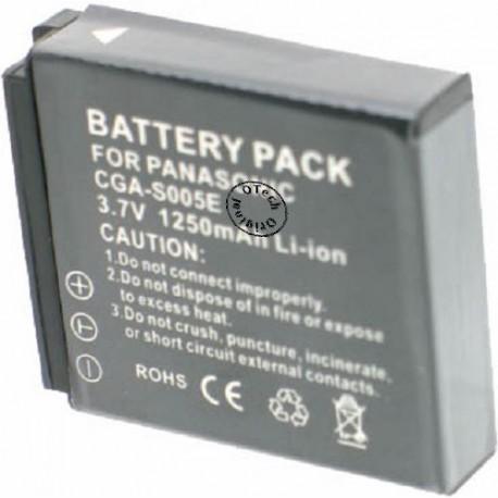 Batterie pour PANASONIC CGA-S005E 3.7V Li-Ion 1250mAh