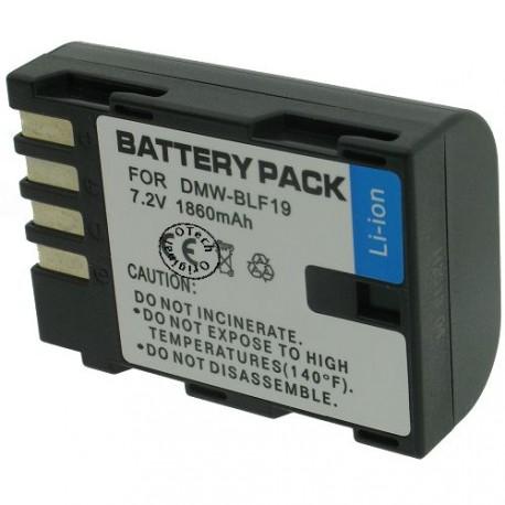 Batterie pour PANASONIC DMW-BLF19 7.2V Li-Ion 1860mAh