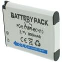 Batterie pour PANASONIC DMW-BCN10 3.7V Li-Ion 950mAh
