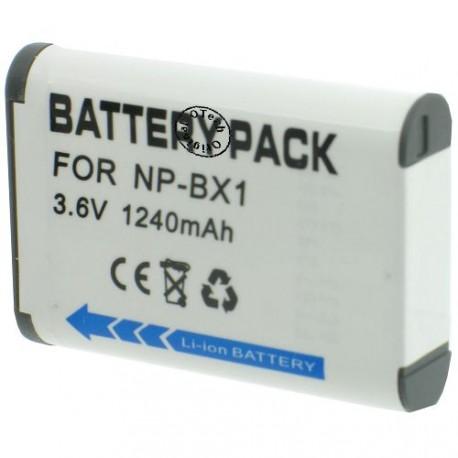 Batterie pour SONY NP-BX1 3.7V Li-Ion 1240mAh