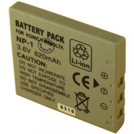 Batterie pour KONICA MIN NP-1 3.6V Li-Ion 850mAh