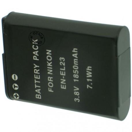 Batterie pour NIKON EN-EL23 3.7V Li-Ion 1700mAh