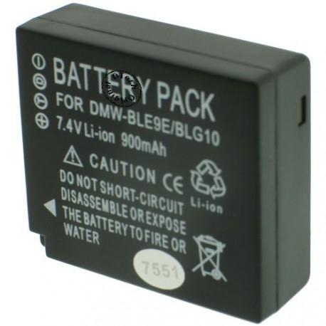 Batterie pour PANASONIC DMW-BLE9 7.2V Li-Ion 940mAh
