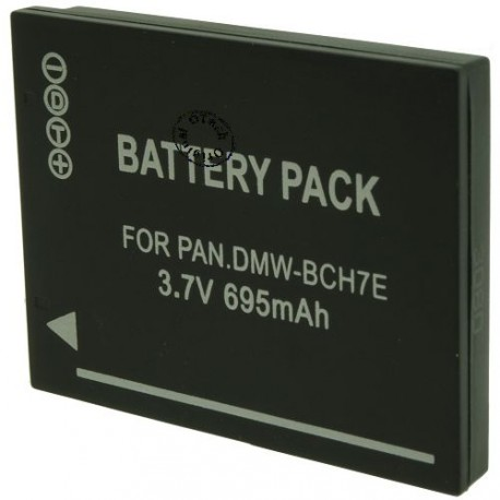Batterie pour PANASONIC DMW-BCH7E 3.7V Li-Ion 695mAh