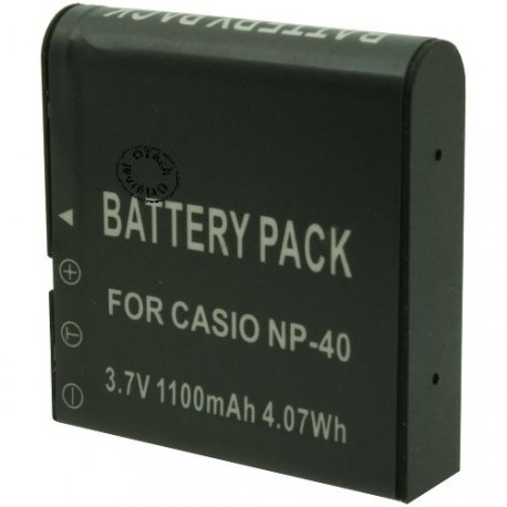 Batterie pour CASIO NP-40 3.7V Li-Ion 1100mAh