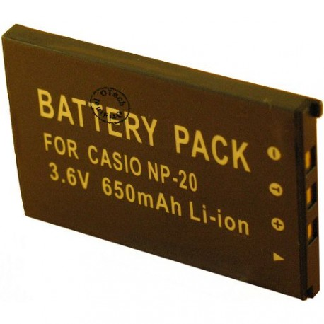 Batterie pour NP-20 3.7V Li-Ion 630mAh