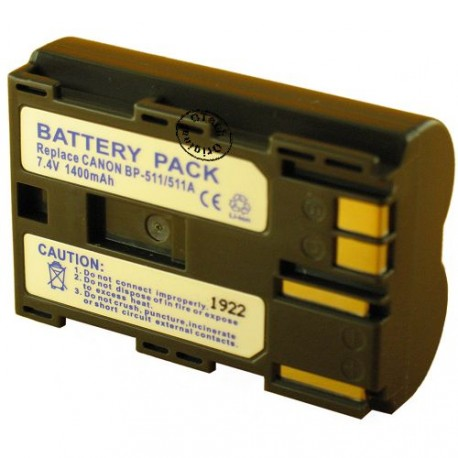 Batterie pour BP-511 7.2V Li-Ion 1800mAh