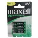 4 Accus AAA LR03 NiMH 840Mah MAXELL