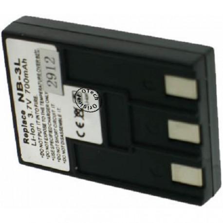 Batterie pour CANON NB-3L black 3.7V Li-Ion 720 / 850mAh