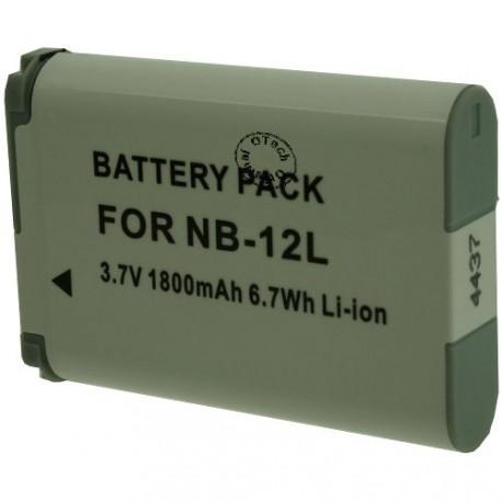 Batterie pour CANON NB-12L 3.7V Li-Ion 1800mAh