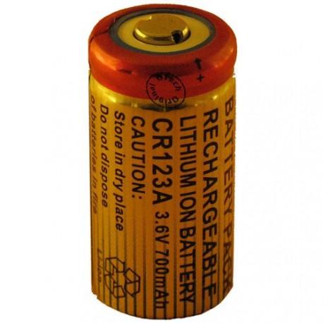 Batterie pour CR123A 3.6V Li-Ion 650mAh