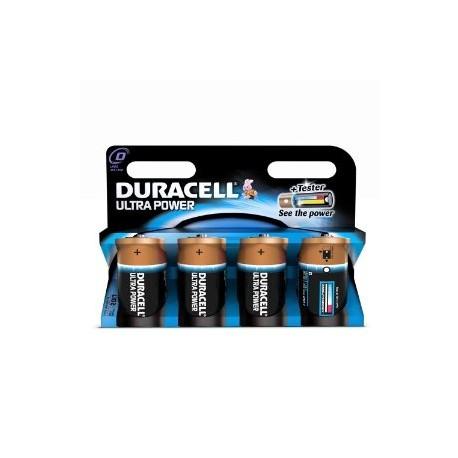 4 Piles LR20 D Alcaline 1.5V DURACELL ULTRA POWER