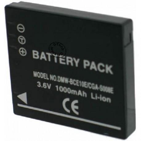 Batterie pour PANASONIC CGA-S008 / DMW-BCE10 / RIC.DB-70 3.6 / 3.7V Li-Ion 1000mAh